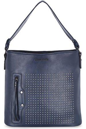 Pierre Cardin Navy Blue Embellished Hobo Bag