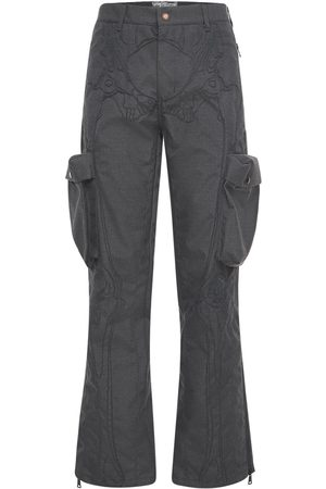 Formy Studio Men Cargo Trousers - Ultrasound Embroidered Cargo Pants