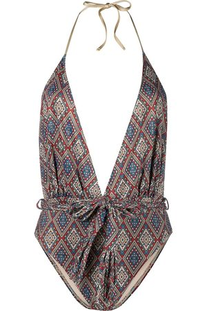 MC2 SAINT BARTH Aztec print one-piece swimsuit