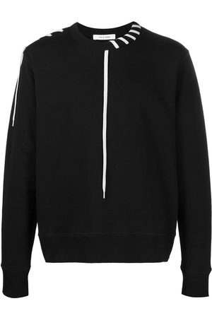 CRAIG GREEN Contrasting laced cotton sweatshirt