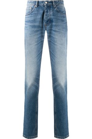 Ami Mid-rise faded slim-fit jeans