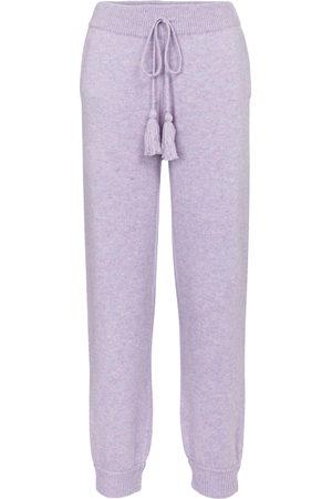 LOVESHACKFANCY Women Formal Trousers - Tristan wool-blend trackpants