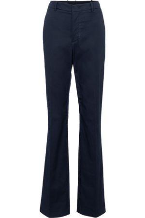Loro Piana Alan high-rise straight cotton pants