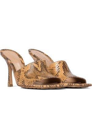 Bottega Veneta Women Sandals - Stretch python-effect leather sandals