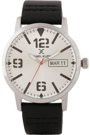 Daniel Klein Men White & Black Analogue Watch DK.1.12506-1