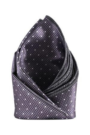 BuckleUp Men Charcoal Grey & Black Printed Pocket Square
