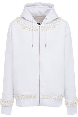 MAKE MONEY NOT FRIENDS Zip-up Cotton Blend Sweatshirt Hoodie