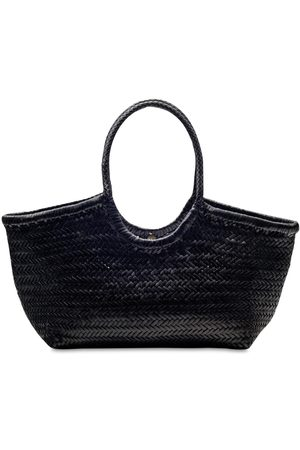 DRAGON DIFFUSION Big Nantucket Woven Leather Basket Bag
