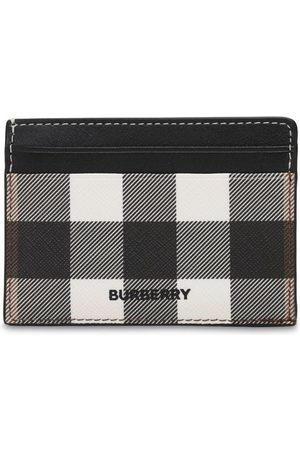 Burberry Kier Check Print E-canvas Card Holder