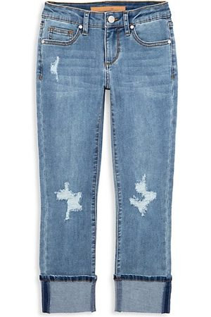 Joes Jeans Girl's The Jane Fit Distressed Cuffed Jeans