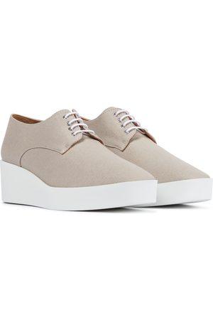 Robert Clergerie Lindsi platform canvas Derby shoes