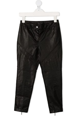 Alberta Ferretti Leather Trousers - TEEN high-rise faux-leather trousers