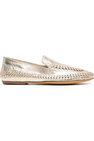 Officine creative Metallic-effect loafers