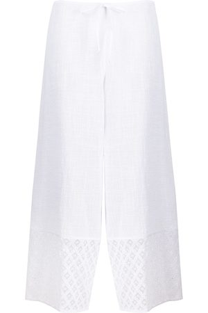 La Perla Broderie anglaise trim cropped trousers