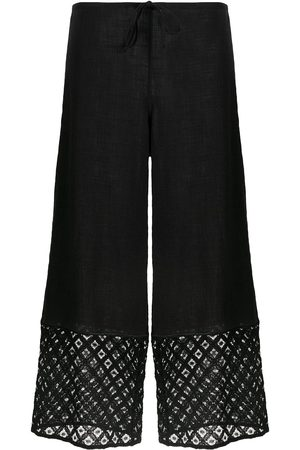 La Perla Women Trousers - Embroidered trim cropped trousers
