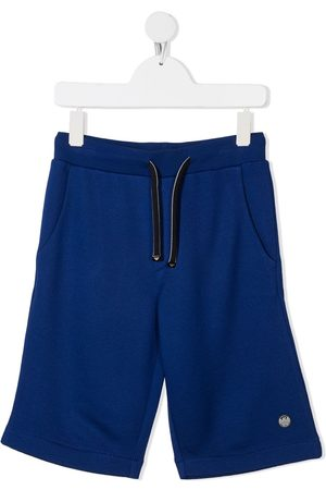 Emporio Armani Boys Shorts - Logo-patch drawstring shorts