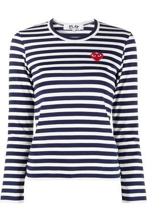 Comme des Garçons Women Long Sleeve - Striped print long-sleeve T-shirt