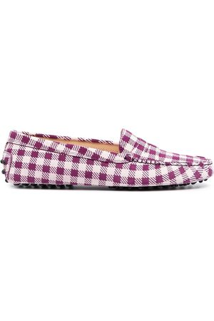 Tod's Women Loafers - Gingham-print loafers