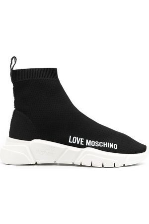 Love Moschino Logo print slip-on sneakers
