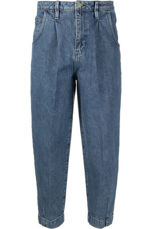 Frame Pleated barrel jeans