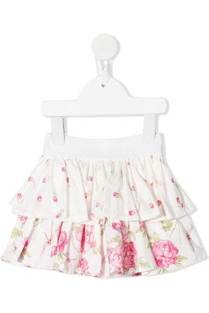 MONNALISA Girls Printed Skirts - Floral-print ruffled skirt