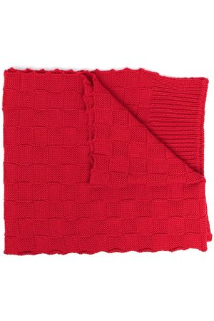 Bottega Veneta Checkerboard-knit wraparound scarf