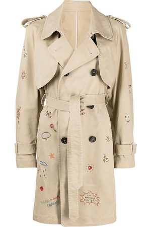 Dsquared2 Women Trench Coats - Logo-embroidered trench coat