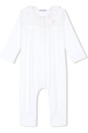Dolce & Gabbana Pyjamas - DG-embroidered jersey and poplin pajamas