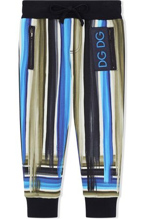 Dolce & Gabbana Boys Trousers - Painted stripe track pants