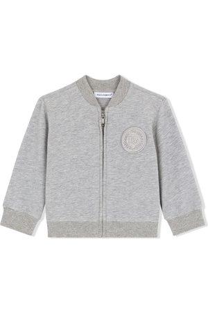 Dolce & Gabbana Hoodies - Logo-patch zip-up sweatshirt