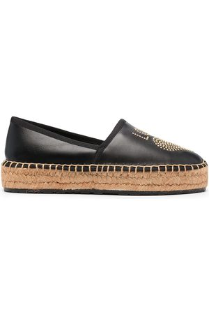 Love Moschino Women Casual Shoes - Studded logo espadrilles