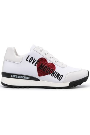 Love Moschino Embellished logo low-top sneakers