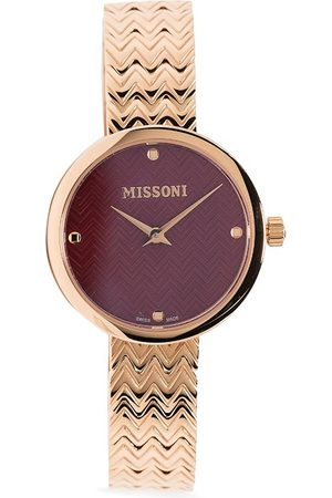 Missoni Embossed chevron-strap watch