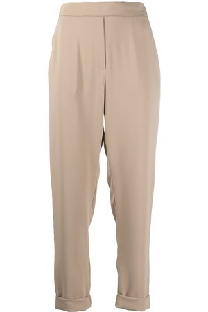 P.a.r.o.s.h. Women Slim Trousers - Rolled-hem trousers