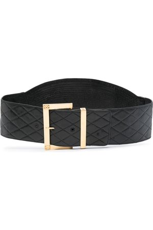 CHANEL Diamond-quilted buckle belt