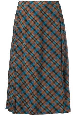 Yves Saint Laurent Women Pleated Skirts - Plaid pleated skirt