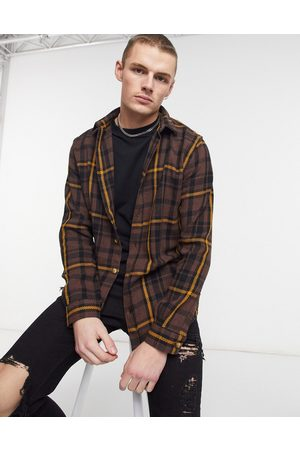 River Island Long sleeve check shirt in