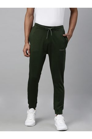 Allen Solly Tribe Men Olive Green Solid Joggers