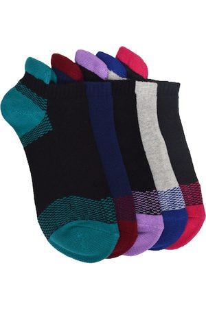 Marc Unisex Multicoloured Set of 5 Ankle-Length Socks