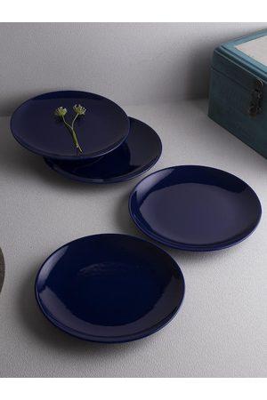 Ariane Set of 4 Blue Fine Porcelain Urmi Quarter Plates
