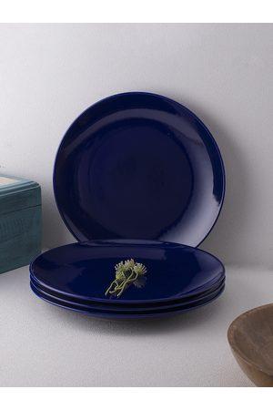 Ariane Set of 4 Blue Porcelain Dinner Plates