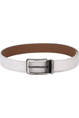 Calvadoss Men White Solid Sustainable Belt