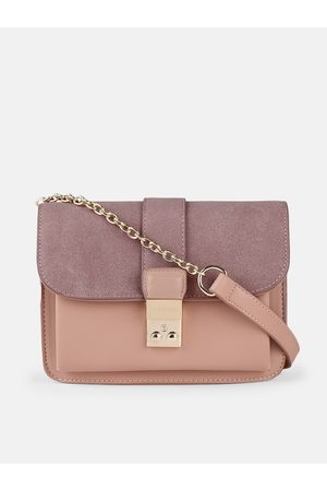 Mast & Harbour Bags - Pink Colourblocked Sling Bag