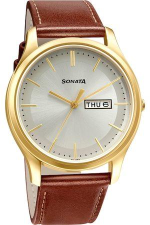 Sonata Men Grey Analogue Watch 77082YL06W