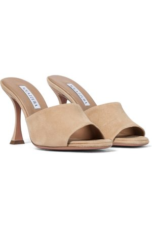 Aquazzura Violette 95 suede sandals