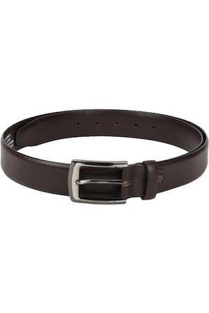 Peter England Men Brown Woven Design Belt