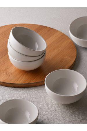 Ariane Unisex Set of 6 White Fine Porcelain Bowls 60ml
