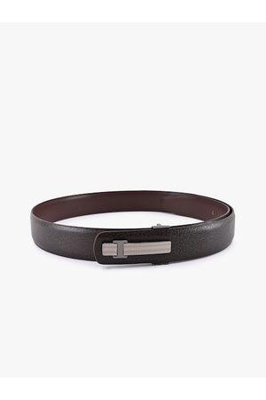 BuckleUp Men Brown Solid Belt
