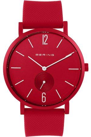 Bering Men Red Analogue Watch