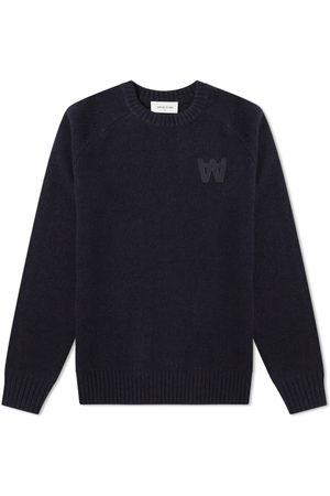 WoodWood Men Jumpers - Kevin Crew Knit Navy